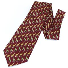 面白ネクタイ・貴方を首を長くして待ってるわキリン・エンジのユニークネクタイ