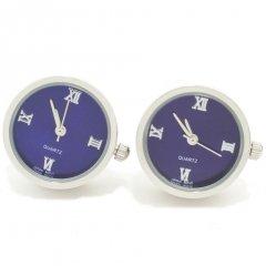 ロイヤルブルー・ラウンド時計のカフス(カフリンクス/カフスボタン)