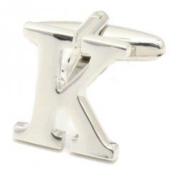 【バラ売り】シルバー・アルファベット【K】カフス(カフリンクス/カフスボタン)