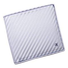 【DonGiovanniドン・ジョバンニ】ウォレット(二つ折り財布/札入れ)・シルバー×ホワイト