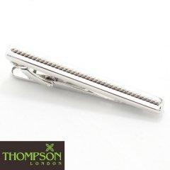 【Thompson London】Cable・ツイスト・シルバーのタイピン(ネクタイピン)