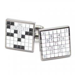 ユニークなクロスワードのカフス(カフリンクス/カフスボタン)