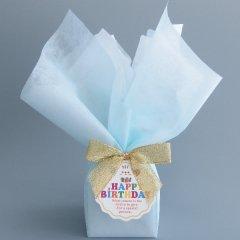 店舗にて包装・豪華にお誕生日おめでとうHappyBirthdayのラッピング