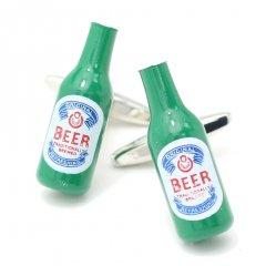 飲みたくなっちゃう瓶ビールのカフス(カフリンクス/カフスボタン)