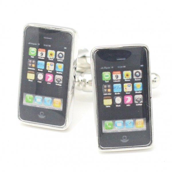 リアルでユニークなスマートフォンのカフス(カフリンクス/カフスボタン)