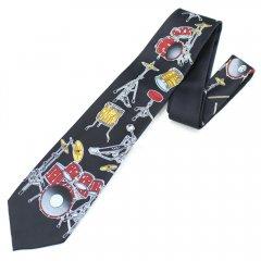 面白ネクタイ◆音楽好きさんにおススメ・ドラムセットのネクタイ