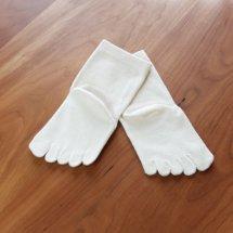 絹コットン子供用5本指靴下