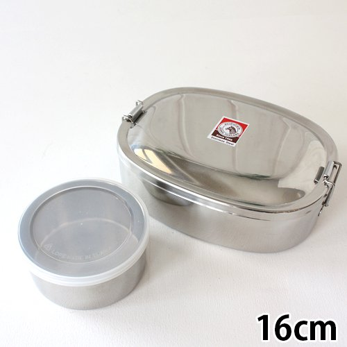 一番人気16cm【ZEBRA Thailand(ゼブラ) ステンレス製弁当箱/ランチボックス】ストッカー(デザートカップ)付き