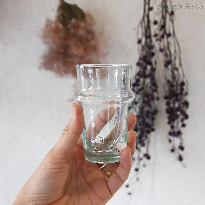 モロッコ/リサイクルガラスのミントティーグラス(9cm)