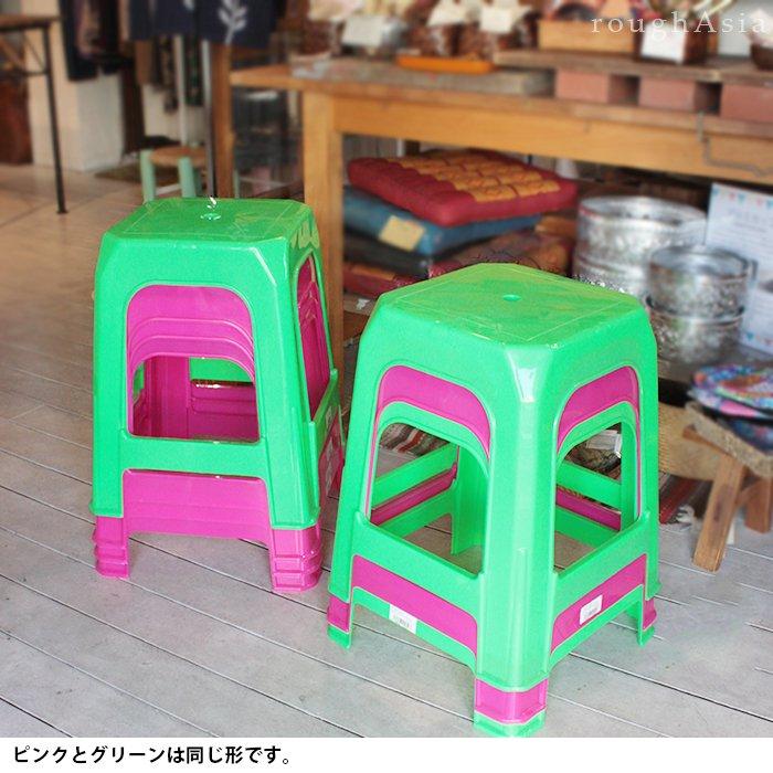 本場タイの屋台 プラスチック製イス グリーン