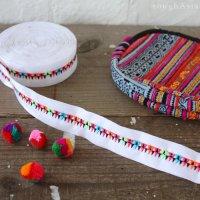 タイ・モン族の刺繍リボンテープ - カラフル三角