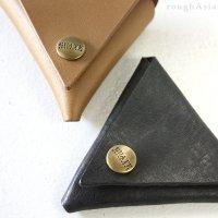 GUATE 本革レザーコインケース/トライアングル(ブラック)