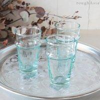モロッコのリサイクルガラスのミントティーグラス(12cm)