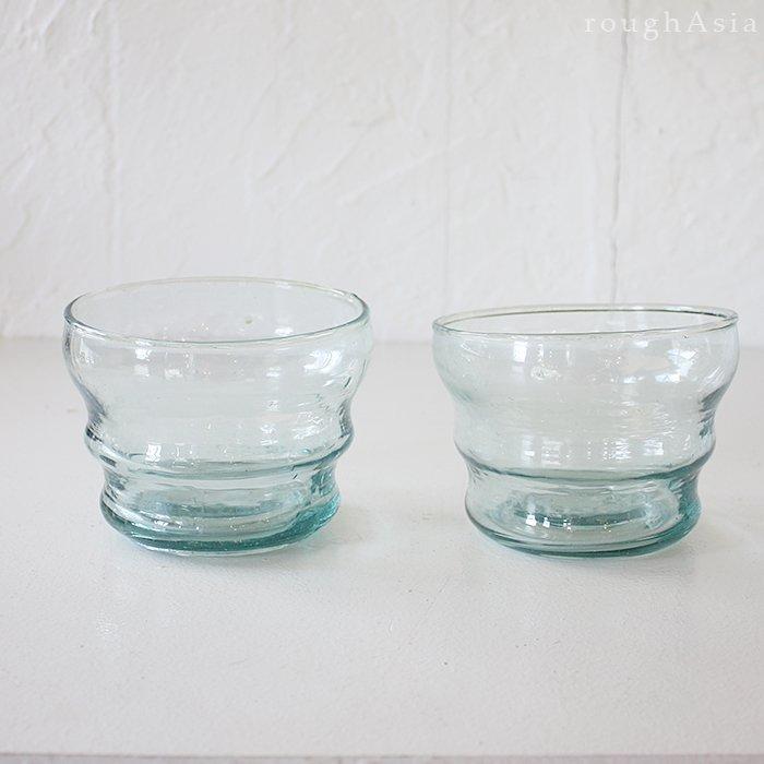 モロッコ リサイクルガラス でこぼこボウル