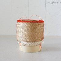 タイの竹カゴもち米入れ容器 / ガティップカオ Mサイズ(直径10.5cm)