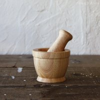 タイ 木製クロックサーク ミニ/スパイスグラインダー スパイスミル すり鉢