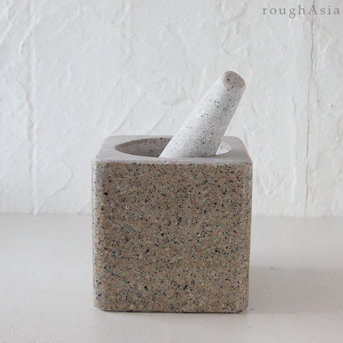 オリジナル タイの石うす「うすたむ3」角型(クロックヒン)
