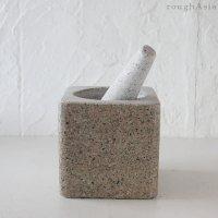 オリジナル 両面使える タイの石うす 「うすたむ」 角型(クロックヒン)/ [オプションで選択]パーカオマーのエコバッグ「サイトゥン」