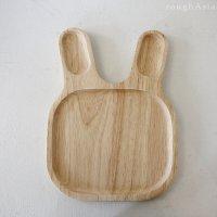 木製プレート お子さまアニマルプレート - ウサギ