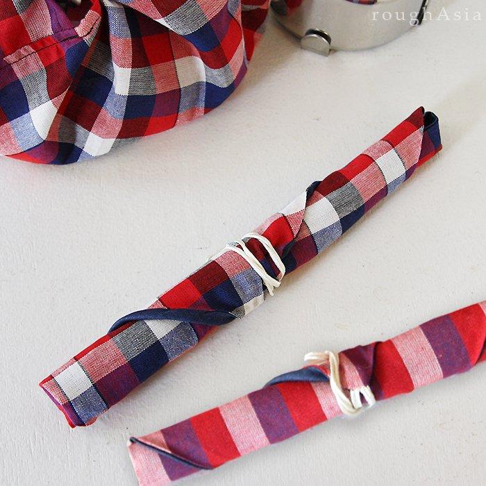 【roughAsia】タイの日常布パーカオマーで作った箸袋 /2色