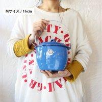【琺瑯(ホーロー)製 タイのフタ付ハンドルバケツ】 - Mサイズ 16cm