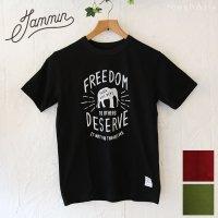 チャリティーTシャツ JAMMIN - FREEDOM 3色/ユニセックスSMLサイズ
