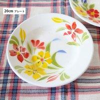 タイ 琺瑯(ホーロー)製 花柄レトロプレート(お皿)/20cm