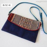 タイ・チェンマイ/ナガ族 織布の2WAYショルダーバッグ
