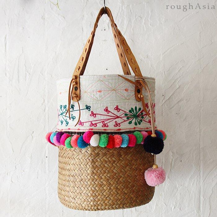 タイ・チェンマイ/モン族 古布リメイクバッグ