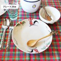 タイ/ランパーンの鶏(ニワトリ)柄 プレート/ 20cm