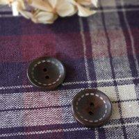 ウッドボタン -ステッチ 2.0cm 4個セット