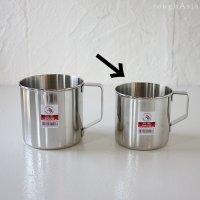 【ZEBRA Thailand(ゼブラ)ステンレス製マグカップ8cm(400cc)】