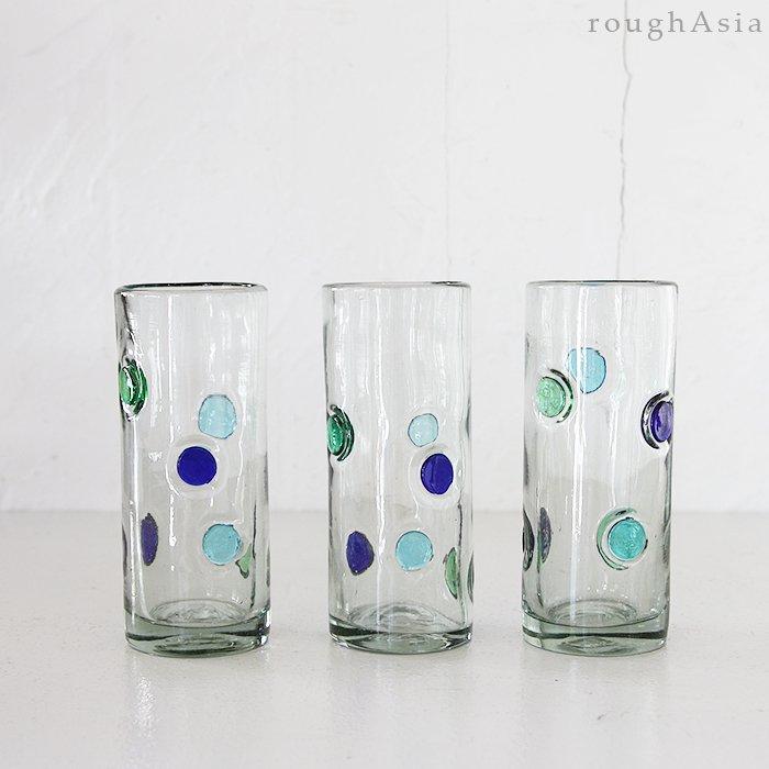 メキシコ リサイクル水玉ロンググラス <br />