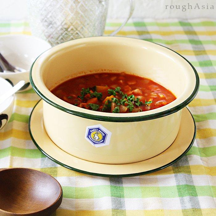 タイ 琺瑯(ホーロー)製 インディアンポット/印度鍋 (2サイズ)