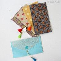 インド チマンラール/タッセル付き封筒5枚入−ボタニカル /ご祝儀袋