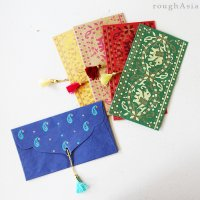 インド チマンラール/タッセル付き封筒5枚入−エレファント /ご祝儀袋