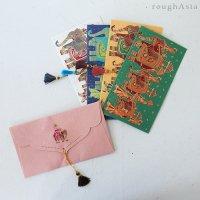 インド チマンラール/タッセル付き封筒 5枚入−パレード