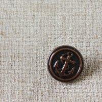 【ボタン】イカリマーク/アンカー/いかり (ブロンズ) 1.5cm
