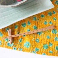 【箸袋にぴったりおさまる 安全安心な身体にやさしい天然木のお箸】 23cm -無地