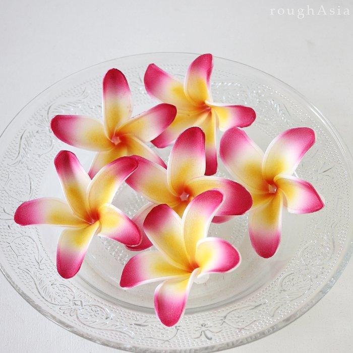 【フローティングフラワー】フランギパニ(プルメリア)ショート ピンク(6個セット)