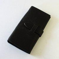 【GUATE】やわらかレザーのベルト長財布 - ブラック