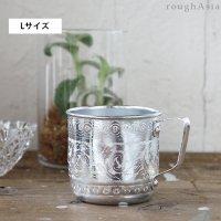 【アルミのカップ Lサイズ】 -取っ手付コップ/マグカップ