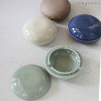 【セラドン焼】蓋付き灰皿−薄緑