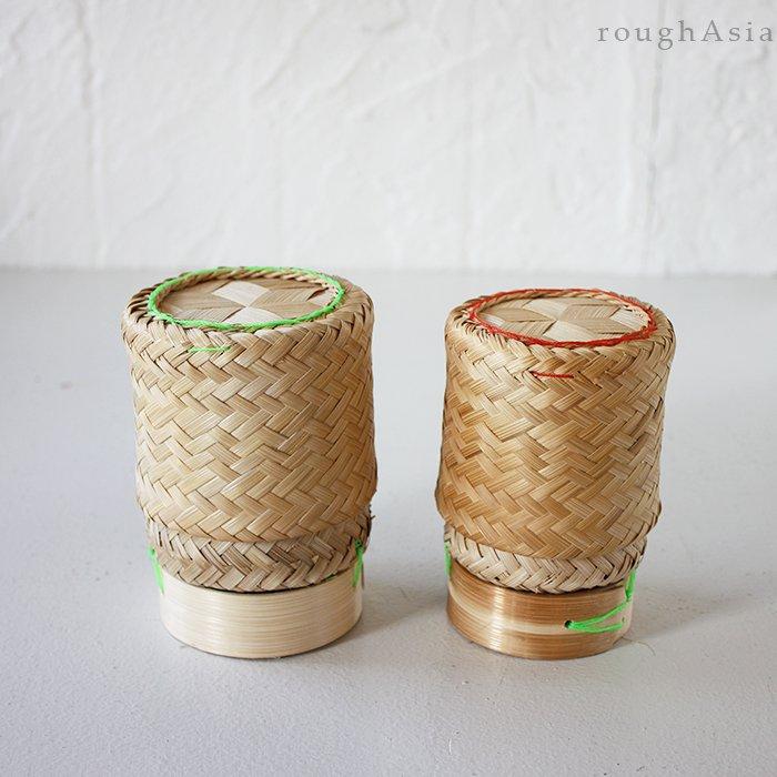 タイの竹カゴもち米入れ / ティップカオ