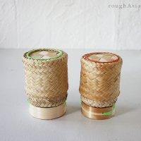 タイの竹カゴもち米入れ / ティップカオ Sサイズ(直径8cm)