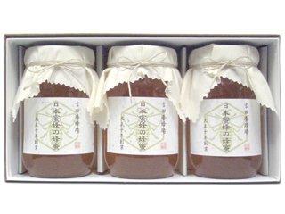 【送料無料】 日本蜜蜂の蜂蜜 ギフトセット(600g×3本入り) [香川県産] 日本みつばちが集めた希少なはちみ…