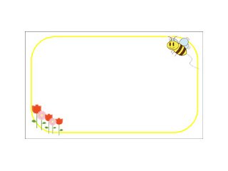 ミニメッセージカード(BEE&FLOWER-YELLOW)