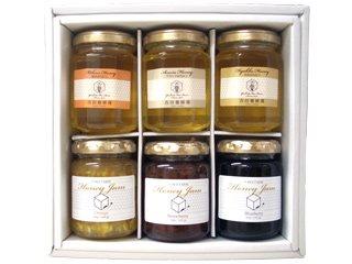 【ホワイトデーギフト特集】[送料無料]国産蜂蜜&蜂蜜ジャムギフトセット[ジャム3アカシア1百花1ミカン1]