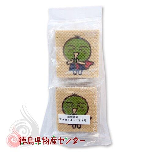 すだちくんチョコフラット4枚入(徳島のお土産菓子)