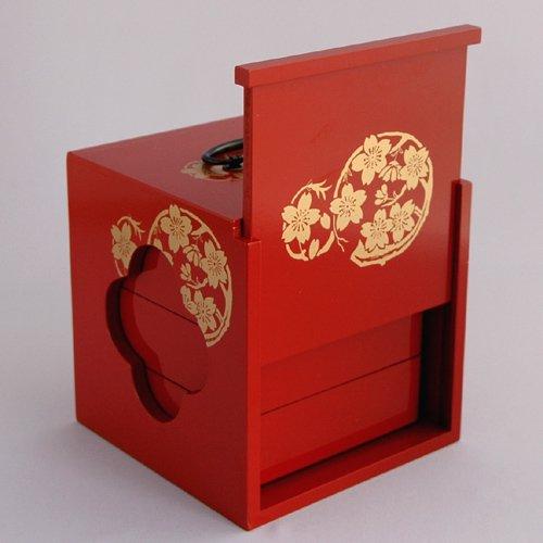 「訳あり商品」「アウトレット」送料無料 遊山箱(ゆさん)朱色 懐かしい手提げ弁当箱は徳島の文化・風習!詳細画像